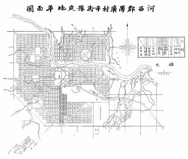 明治28年河西郡帯広村市街予定図