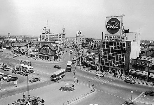 昭和45年当時の駅前風景