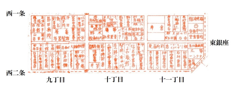 昭和10年5月帯広市(東銀座)案内図